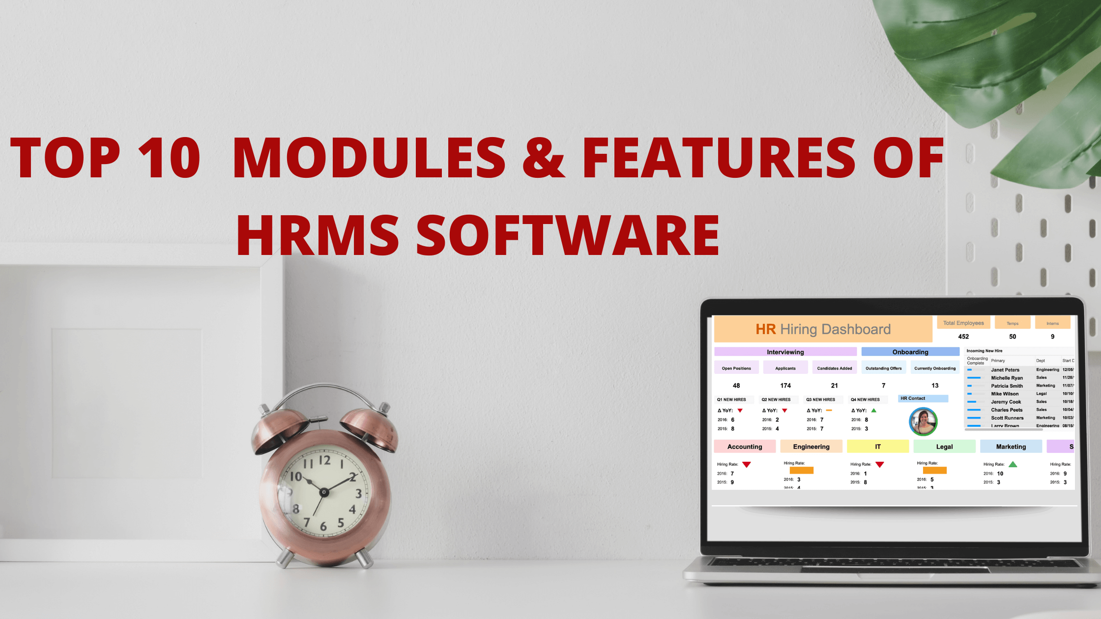 TOP 10  MODULES & FEATURES OF HRMS  SOFTWARE
